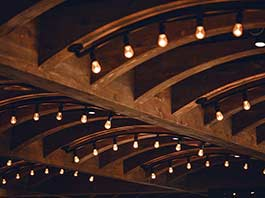 A ceiling designed for acoustics